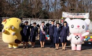 関根さんが一日警察署長/「110番の日」キャンペーン