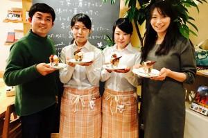 学生がスイーツ『ベジパフェ十文字』開発/市内のカフェで期間限定販売