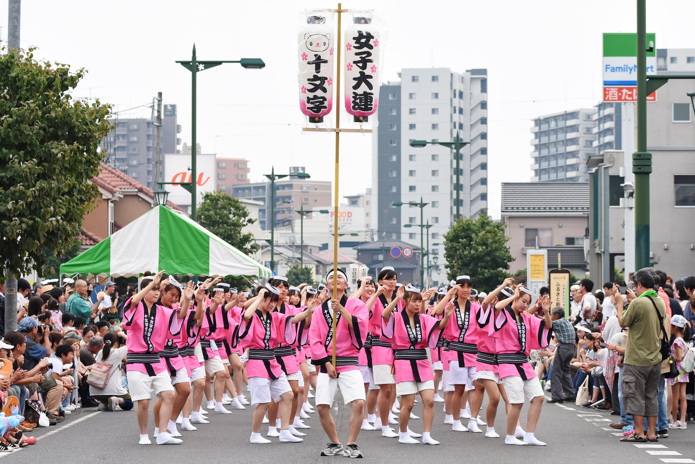 第5回大江戸新座祭りの阿波踊りに「十文字女子大連」が参加しました